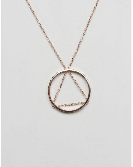 Ожерелье С Треугольной Подвеской И Подвеской-Кольцом Cheap Monday                                                                                                              золотой цвет