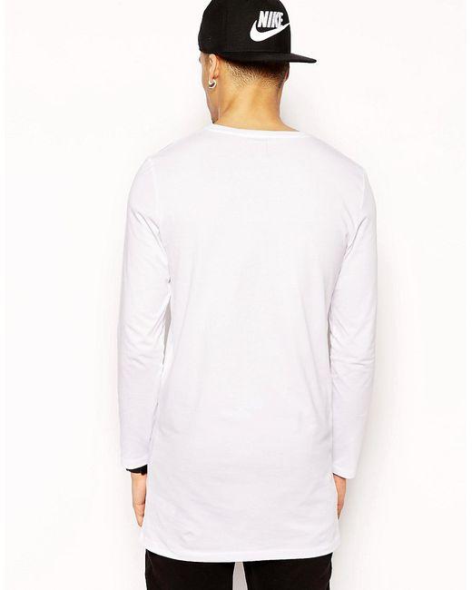 Супердлинный Лонгслив Asos                                                                                                              белый цвет