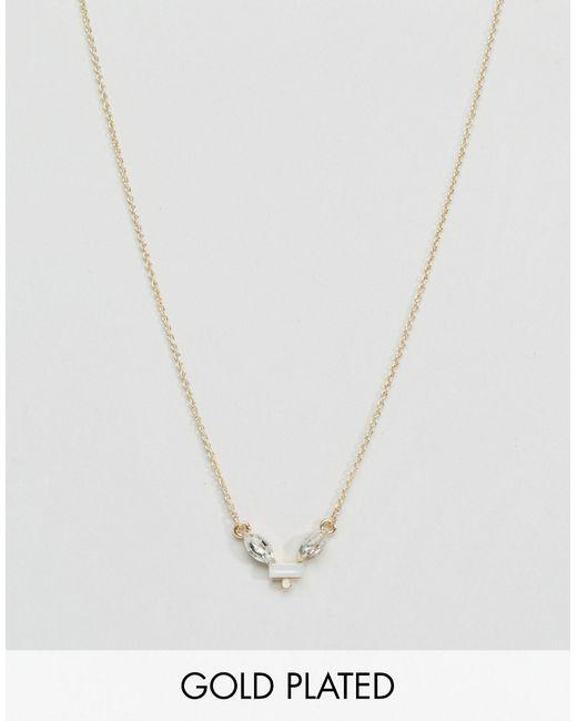 Ожерелье С Камнем Цвета Слоновой Кости Aria Johnny Loves Rosie                                                                                                              золотой цвет
