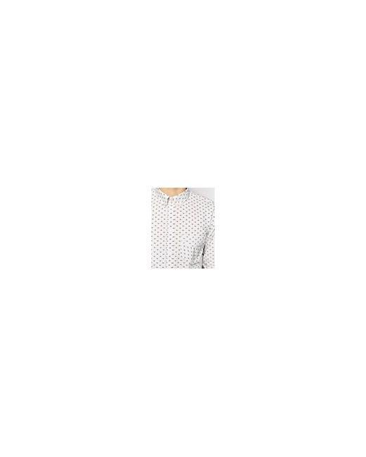 Рубашка Узкого Кроя С Принтом Серый Paul Smith                                                                                                              серый цвет
