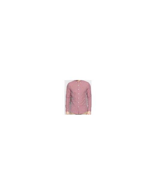 Приталенная Рубашка В Клетку Красный Farah                                                                                                              красный цвет
