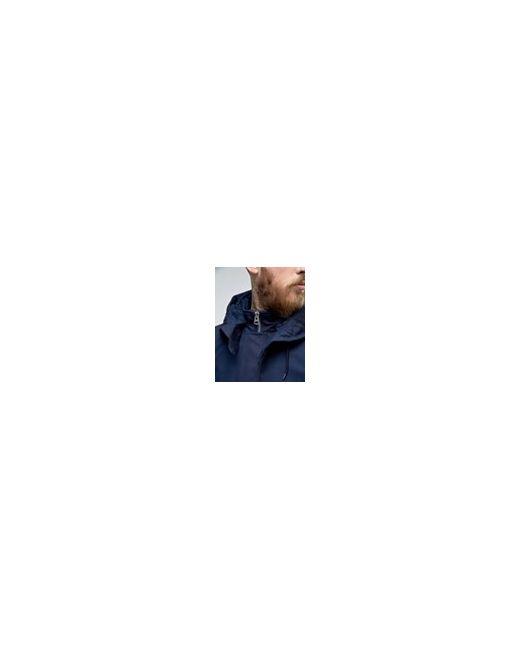 Темно-Синяя Куртка С Капюшоном На Подкладке Borg Asos                                                                                                              None цвет