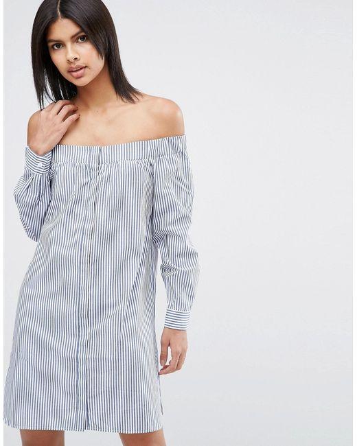 Платье-Рубашка В Полоску Из Хлопковой Смеси С Asos                                                                                                              Полоски цвет
