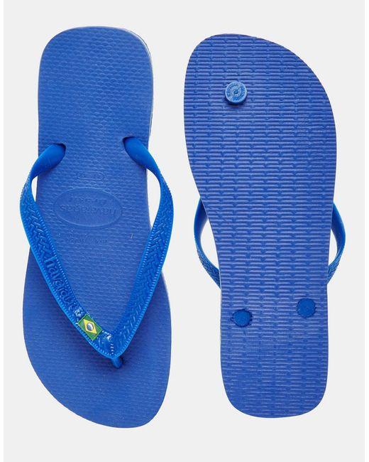 Бразильские Шлепанцы Синий Havaianas                                                                                                              синий цвет