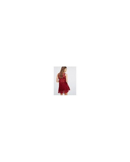 Кружевное Платьесорочка Emily Темно-Красный Free People                                                                                                              красный цвет