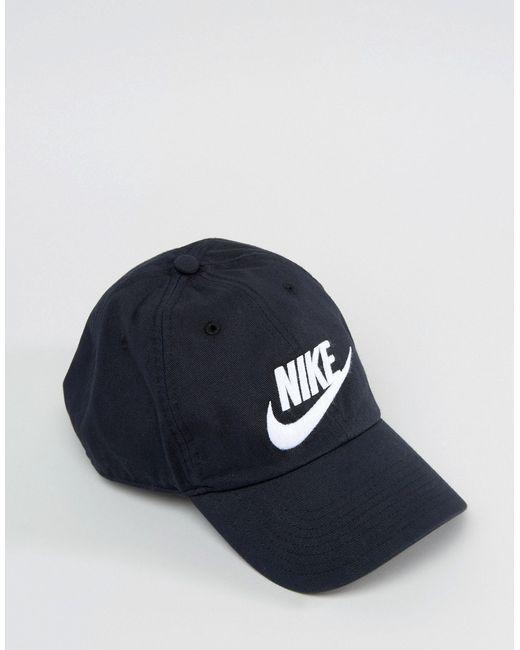 Выбеленная Кепка Futura H86 Nike                                                                                                              чёрный цвет