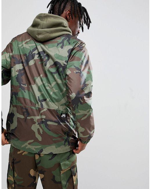 d93ddde4 ... Зеленая Спортивная Куртка С Камуфляжным Принтом Ah5505-222 Nike SB  зелёный ...