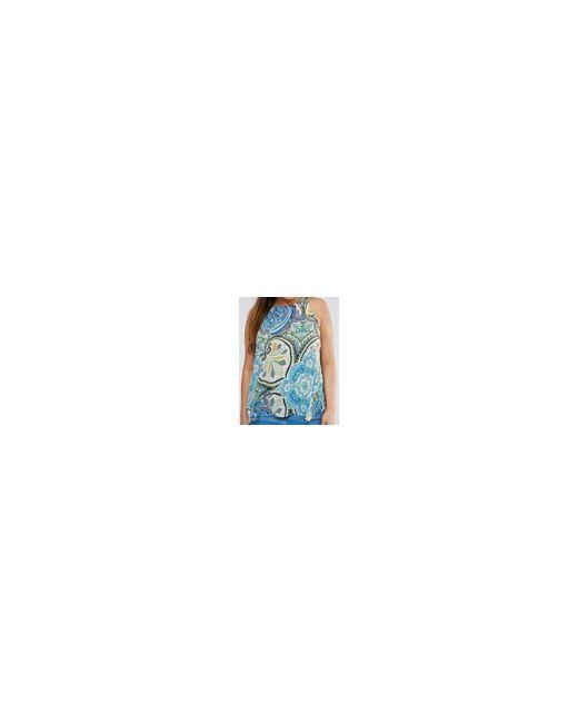 Свободный Топ С Платочным Принтом Plus Синий AX Paris                                                                                                              многоцветный цвет