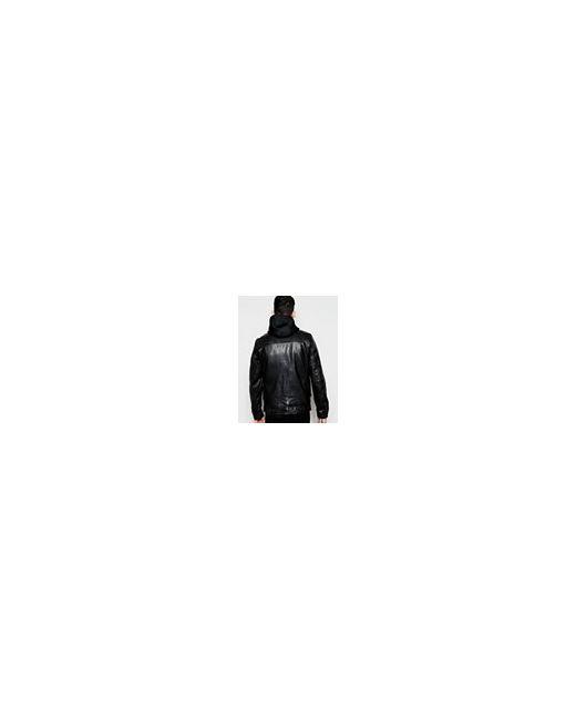 Кожаная Куртка С Капюшоном Черный Schott                                                                                                              чёрный цвет