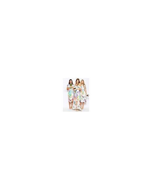 Платье Макси С Цветочным Принтом Wedding Мульти Asos                                                                                                              многоцветный цвет