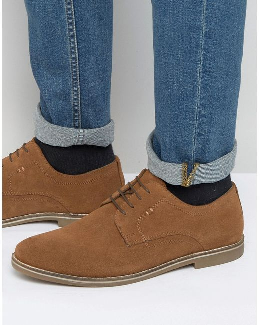 Derby Shoes In Beige Suede Бежевый Red Tape                                                                                                              None цвет