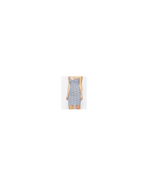 Облегающее Платье Мини На Бретельках С Цветочным Asos                                                                                                              многоцветный цвет