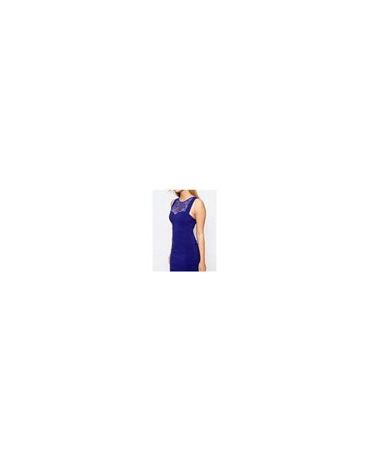 Платье-Футляр С Кружевом У Горловины Cindy Синий Vesper                                                                                                              синий цвет