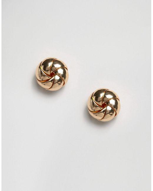 Серьги-Гвоздики В Виде Пончиков Золотой Asos                                                                                                              золотой цвет