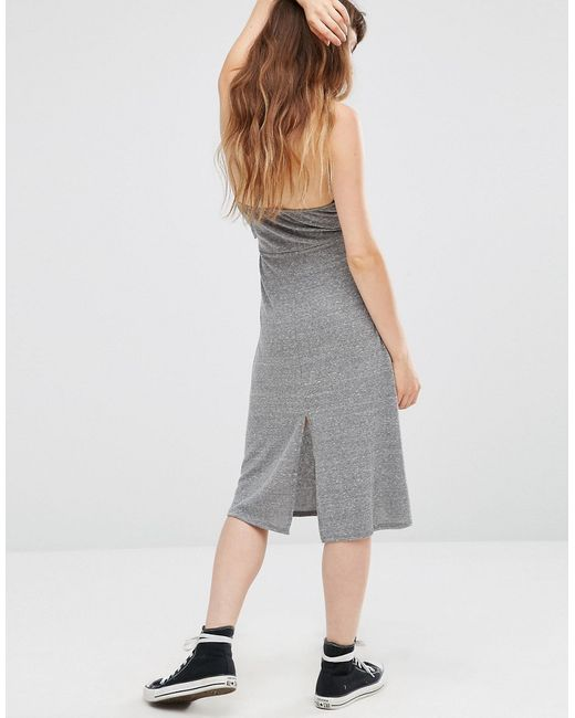 Elysia Halter Dress With Plunge Front Серый NYTT                                                                                                              None цвет