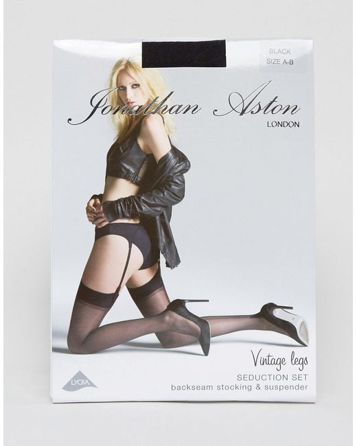 Seduction Set Stockings And Suspender Черный Jonathan Aston                                                                                                              None цвет
