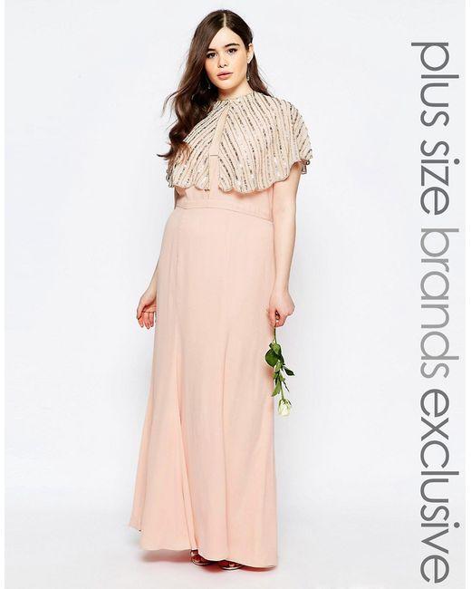 Платье Макси Лотос Fame and Partners Plus                                                                                                              Лотос цвет
