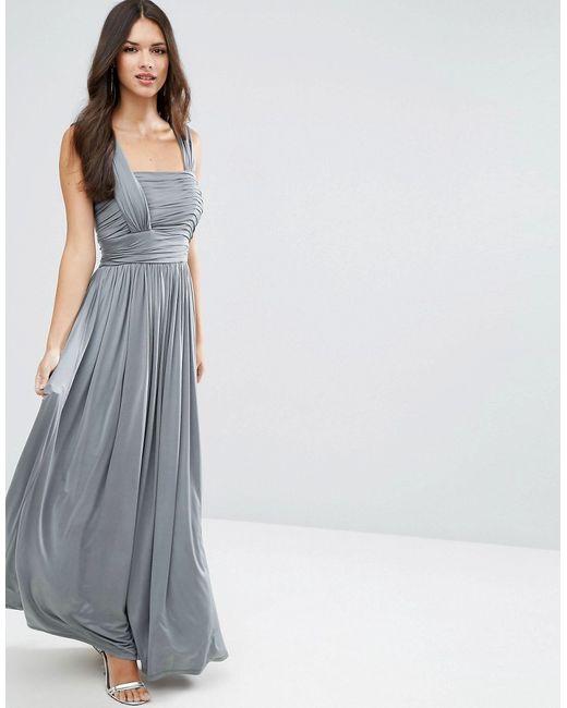 Платье Макси Со Сборками Wedding Asos                                                                                                              None цвет