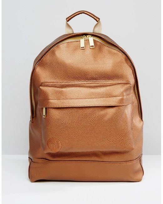 Золотистый Рюкзак Из Кожзаменителя Золотой MI-PAC                                                                                                              золотой цвет
