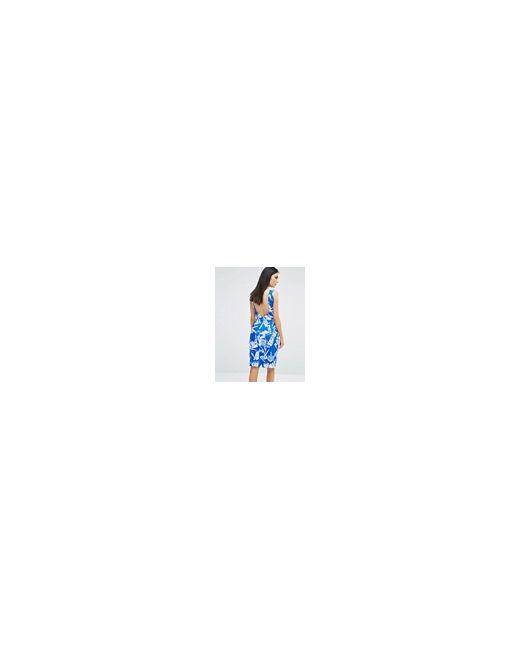 Голубое Платье С V-Образным Вырезом Stylestalker Синий Style Stalker                                                                                                              синий цвет