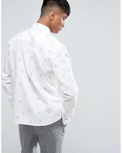 Рубашка С Принтом Cheap Monday                                                                                                              белый цвет
