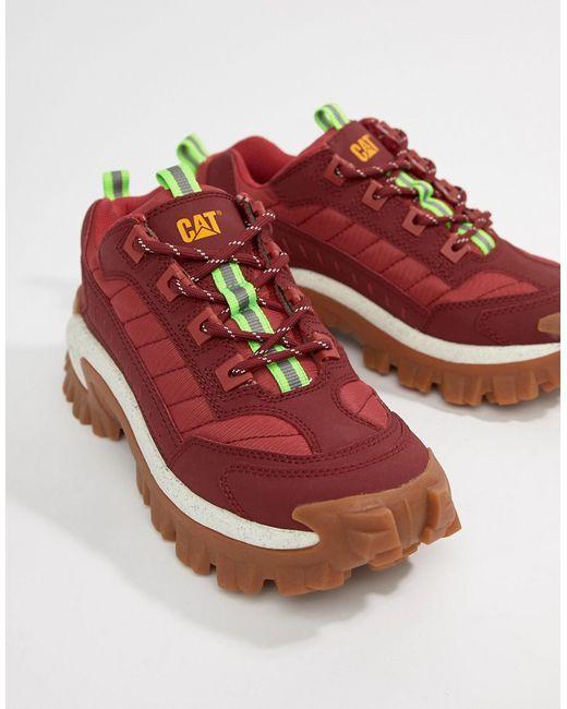 c066c3f70 ... Кроссовки На Толстой Подошве Cat Intruder Cat Footwear красный ...