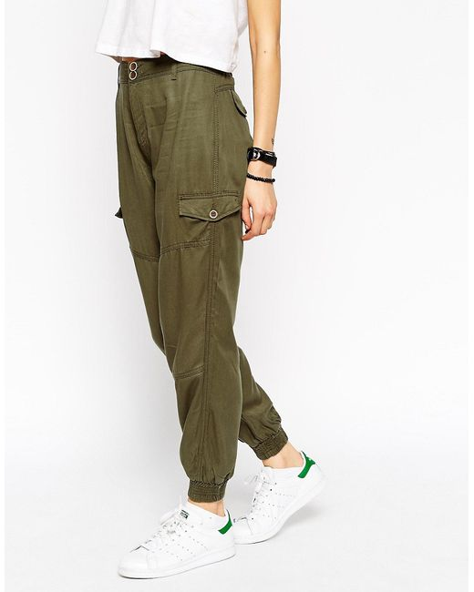 Asos Casual Cuffed Trousers With Seam Details ASOS Collection                                                                                                              None цвет