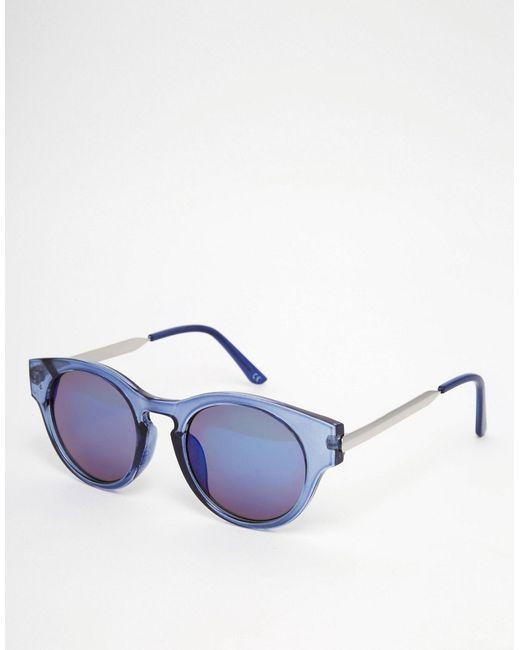 Круглые Солнцезащитные Очки Синий Trip                                                                                                              синий цвет