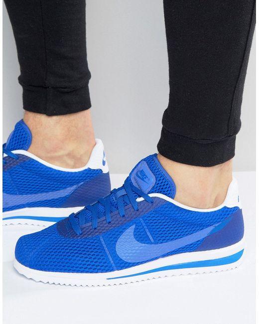 Кроссовки Cortez Ultra Breathe 833128-401 Синий Nike                                                                                                              синий цвет