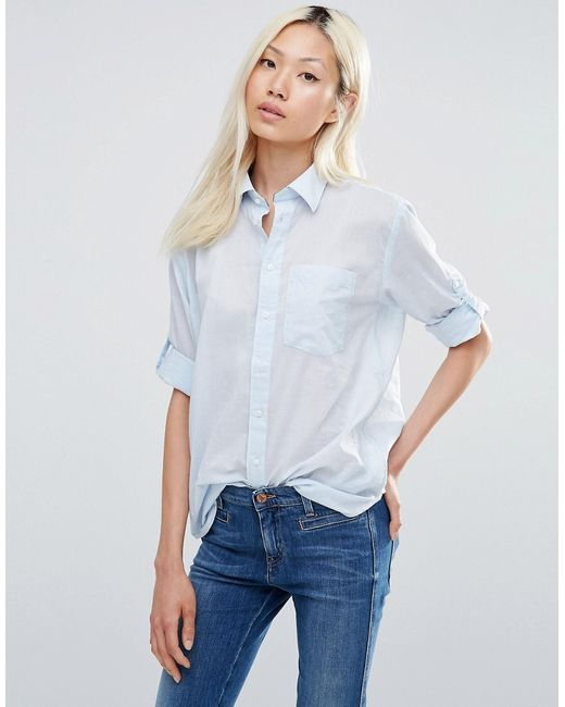 Рубашка Бойфренда G Star Laundry Blue G-Star                                                                                                              синий цвет