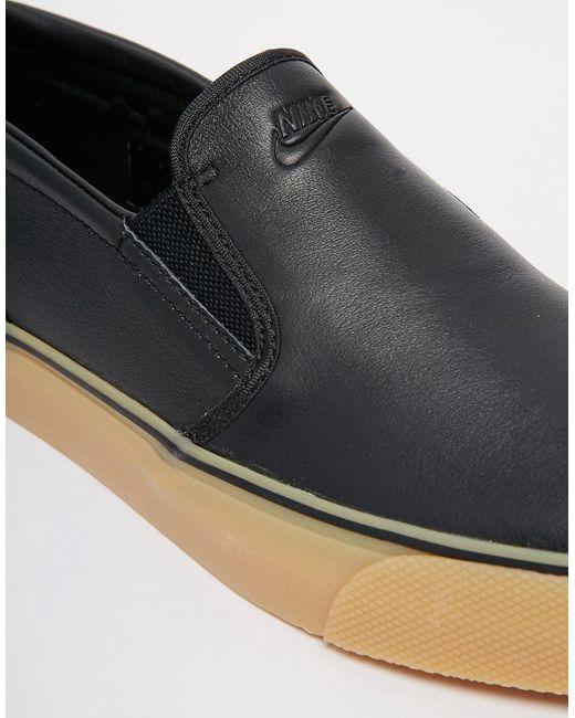 Кожаные Кроссовки-Слипоны Toki Nike                                                                                                              чёрный цвет
