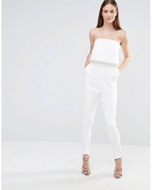 Комбинезон-Бандо С Разрезом Сзади Белый Lavish Alice                                                                                                              белый цвет