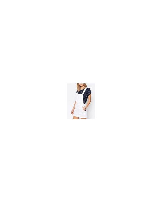 Джинсовое Платье-Комбинезон Белый Jack Wills                                                                                                              белый цвет