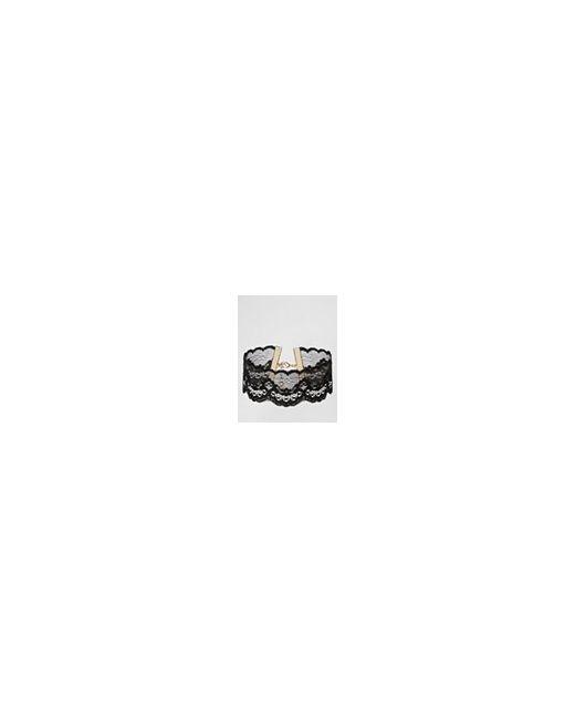 Короткое Кружевное Ожерелье Night Черный Asos                                                                                                              чёрный цвет