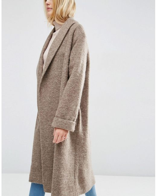 Oversized Knitted Coat In Wool Blend With Asos                                                                                                              None цвет