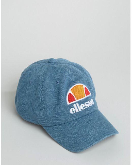 Синяя Выбеленная Бейсболка Синий Ellesse                                                                                                              None цвет