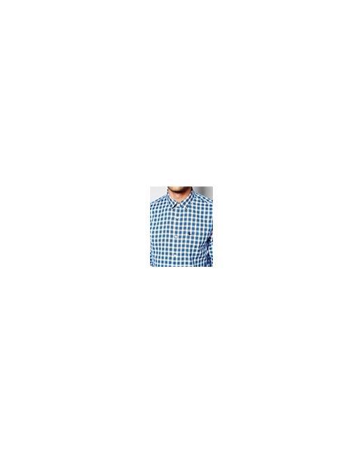 Рубашка Классического Кроя В Клетку Белый/Синий В Jack Wills                                                                                                              синий цвет