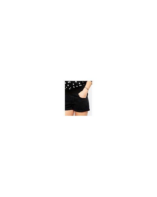 Черные Джинсовые Шорты В Винтажном Стиле Для ASOS Maternity                                                                                                              чёрный цвет