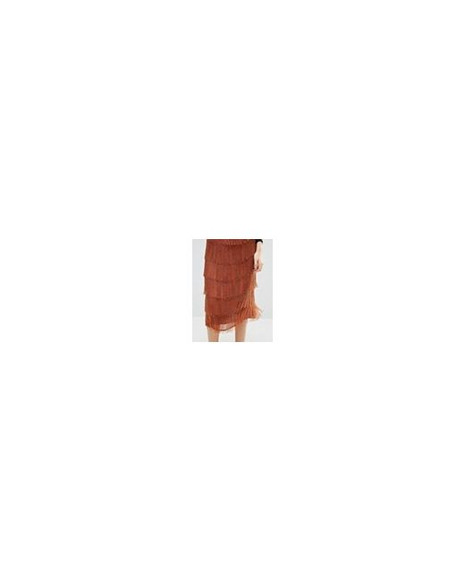 Юбка С Бахромой И Бисером Bronze Asos                                                                                                              Bronze цвет