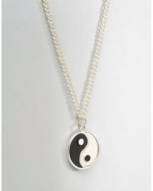 Ожерелье Ying Yang Asos                                                                                                              Серебряный цвет