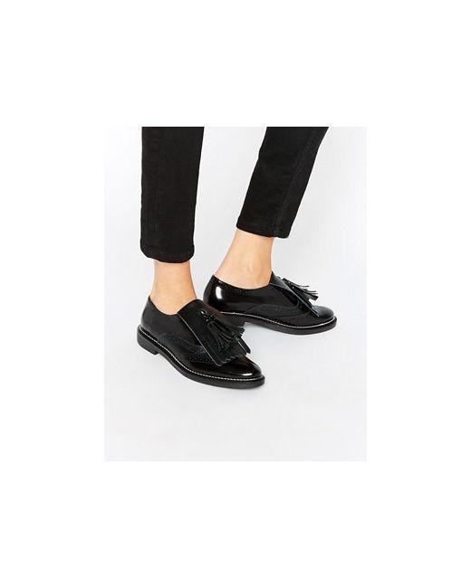 Кожаные Туфли На Плоской Подошве Mariella Premium Asos                                                                                                              чёрный цвет