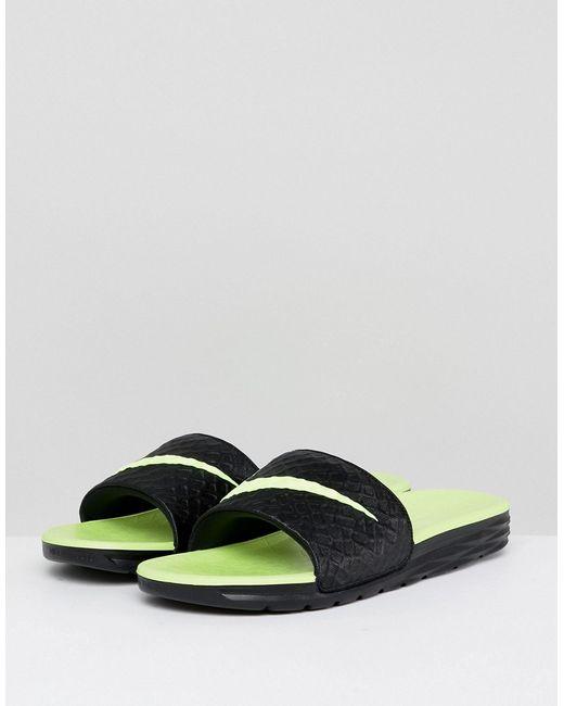 9235d18d Мужские Чёрные Черные Шлепанцы Benassi Solarsoft 705474-070 Nike 6568545