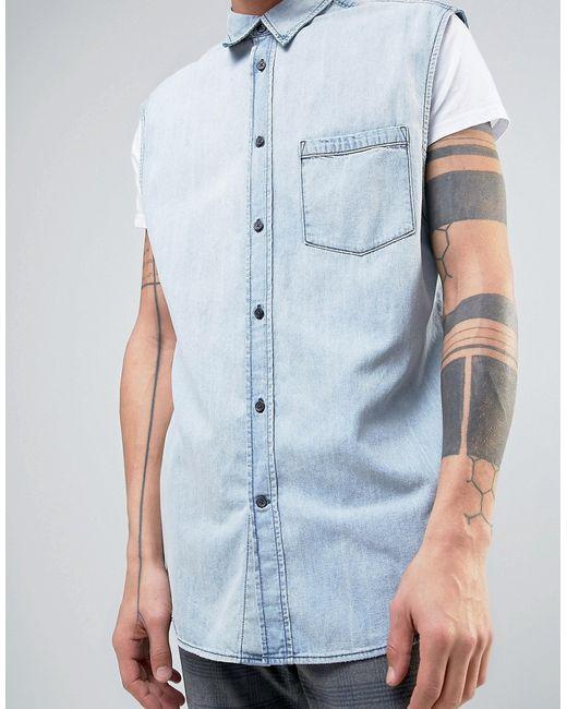 Джинсовая Рубашка Solder Cheap Monday                                                                                                              синий цвет
