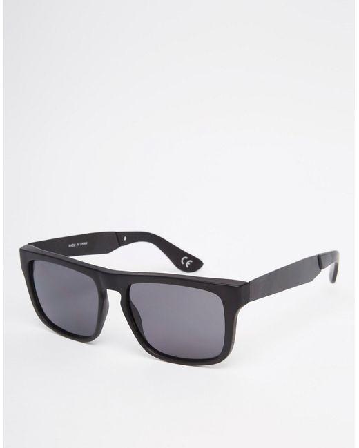 Черные Квадратные Солнцезащитные Очки С Прямым Верхом Vans                                                                                                              чёрный цвет