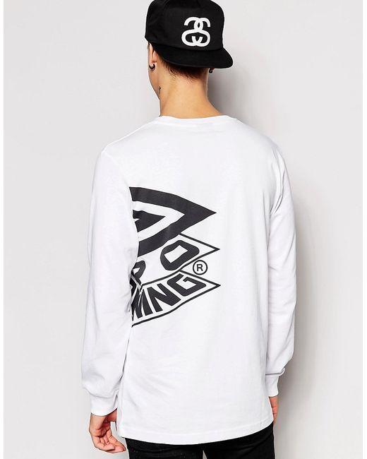 Лонгслив С Большим Логотипом Umbro                                                                                                              Белый цвет