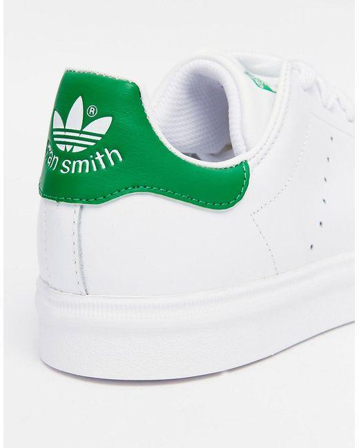 Бело-Зеленые Кроссовки Originals Stan Smith Adidas                                                                                                              None цвет