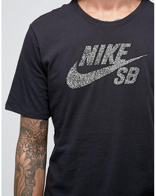 Черная Футболка С Принтом Логотипа 844107-010 Nike SB                                                                                                              чёрный цвет
