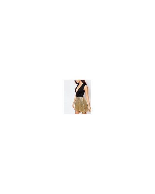 Приталенное Платье С Пайетками Серебряный ASOS TALL                                                                                                              Серебряный цвет