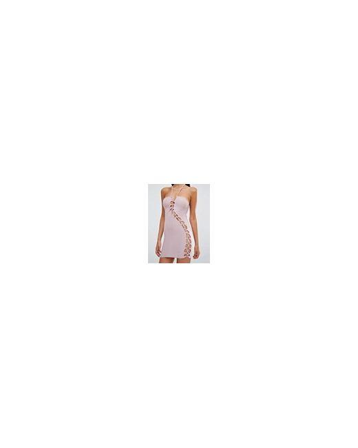 Платье Мини С Решеткой Из Лямок Sexy Club L                                                                                                              Пастельно-Лиловый цвет