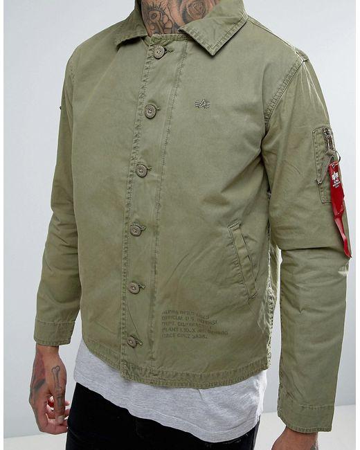 Зеленая Куртка В Стиле Милитари Alpha Industries                                                                                                              зелёный цвет